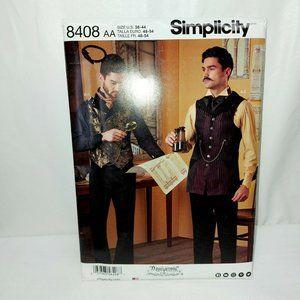 SIMPLICITY PATTERN 8408 VICTORIAN STEAMPUNK COSTUM